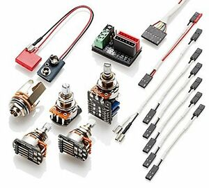 EMG-1or2-pickup-Gibson-Style-Active-Kit-with-Push-Pull-amp-Short-Shafts-Solderless