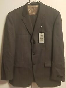 Austin Reed Grey 100 Pure Wool Men S Suit Jacket 40 R Trousers 34 R Ebay