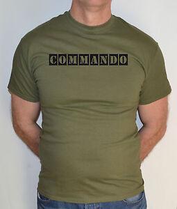 Commando-MILITARE-MILITARE-Airsoft-COMBATTIMENTO-T-Shirt