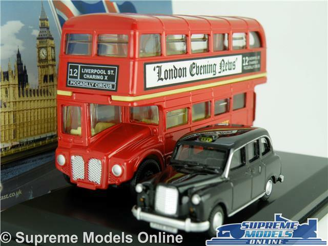 6735d3f71 London Bus & Taxi Model Car Gift Set Fx4 1 76 Scale Oxford LD004  Routemaster K8