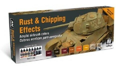 AV Acrylics 71186  Model Air Set  Rust and Chipping Effects