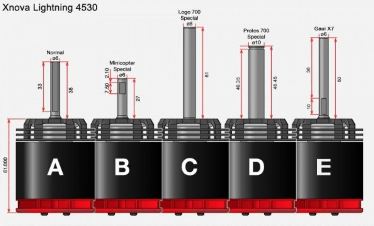 Motore elettrici elicotteri rc Brushless Brushless Brushless kit Xnova 4025-830 Kv t-rex align 550 83584e