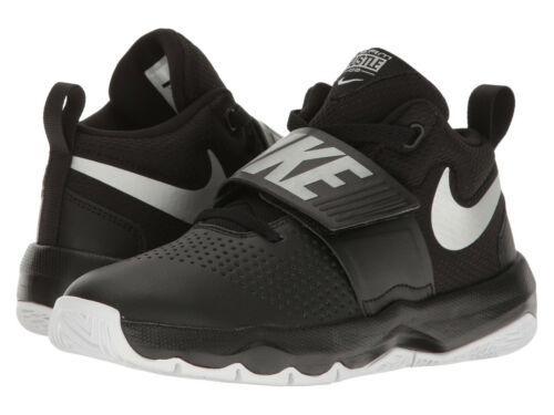 Kids Nike Team Hustle D8 Court Shoe 881941 001 Black Silver 100/% Authentic New