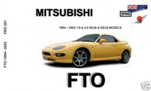 JPNZ Mitsubishi FTO 94-02 English Owners Handbook