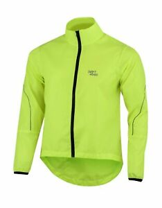 Mens-Cycling-Waterproof-Jacket-High-Visibility-Running-Top-Rain-Coat-S-to-2XL-UK