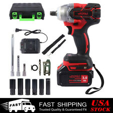 New Listingcordless Electric Impact Wrench Gun 12 Driver Drill 330nm Withli Ion Batteries