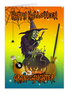 Halloween-Witch-Card-Can-Customize-to-names-Granddaughter-Halloween-Or-name