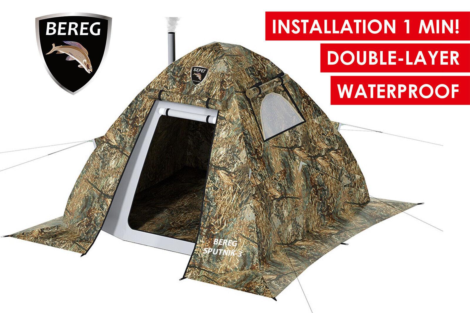 Universal tuttiseason doppiolayer Waterproof Tent Bereg Sputnik3