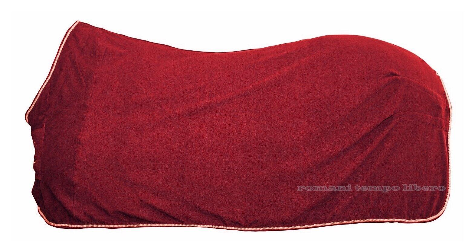 Coperta per cavalli in pile con passamaneria - horse fleece rug