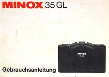Minox 35 GL Gebrauchsanleitung german manual mode d'emploi allemand - (0883)