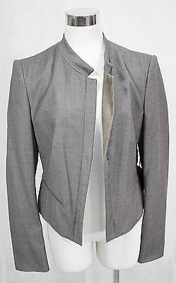 Windsor Blazer Jacke Gr. 38 M Kurzjacke grau Schurwolle Business edel Neu I255