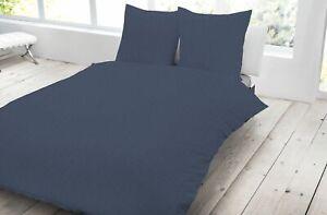4 Tlg Jersey Bettwäsche 155x220 Cm Marine Blau übergröße Melange