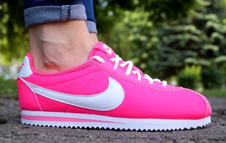Nuevo Zapatos Nike Cortez nailon ZAPATILLAS GS CLASSIC MUJER ZAPATILLAS nailon DEPORTIVAS ROSA 6a1f9f