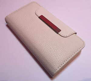 Apple-Iphone-6-6s-4-7-leather-flip-cover-wallet-book-case-magnetic-2-piece-white