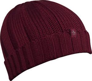 9dc2ea82ab036 Original Penguin Boho Beanie Hat Mens Womens Warm Knit Fashion Red ...