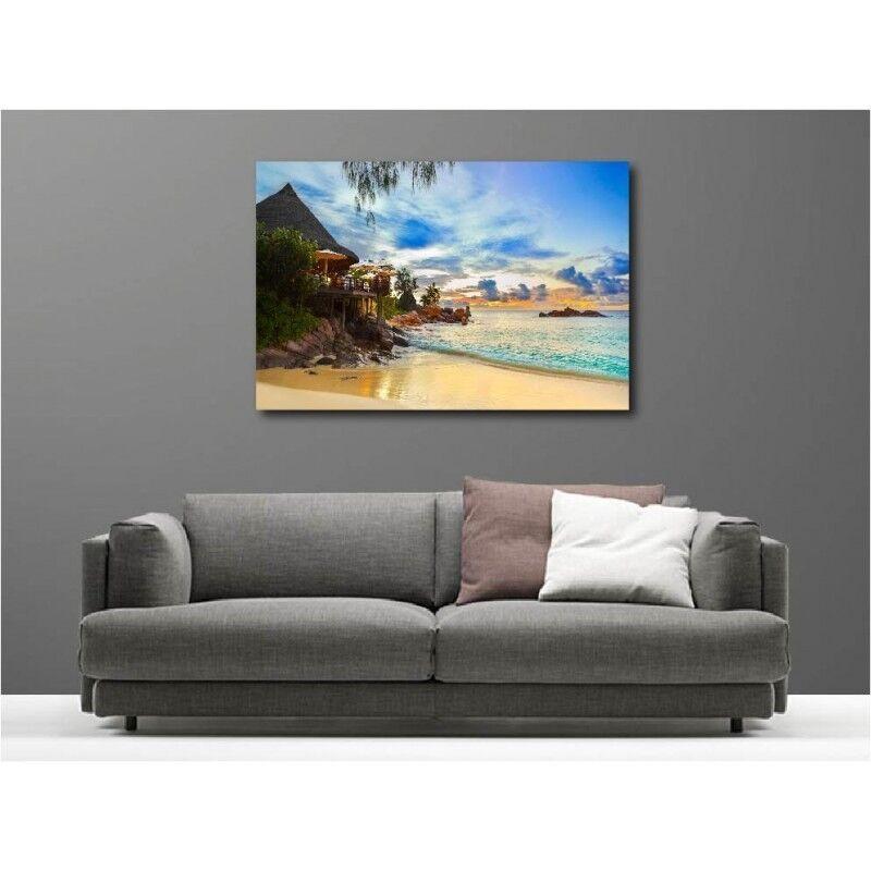 Tableaux toile déco rectangle maison bord de plage 116748109