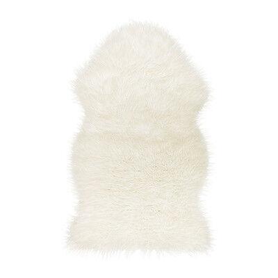 Ikea 4 Faux Sheepskin Rug / Throw Tejn New