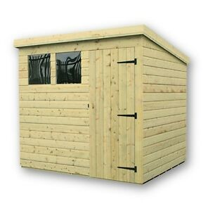 image is loading 7x5 wooden garden shed shiplap pent tongue and