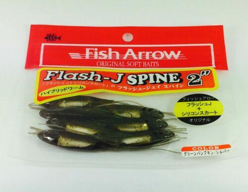 "Fish Arrow Finesse Soft Lure Hybrid Worm  Flash J Spine 2/"""