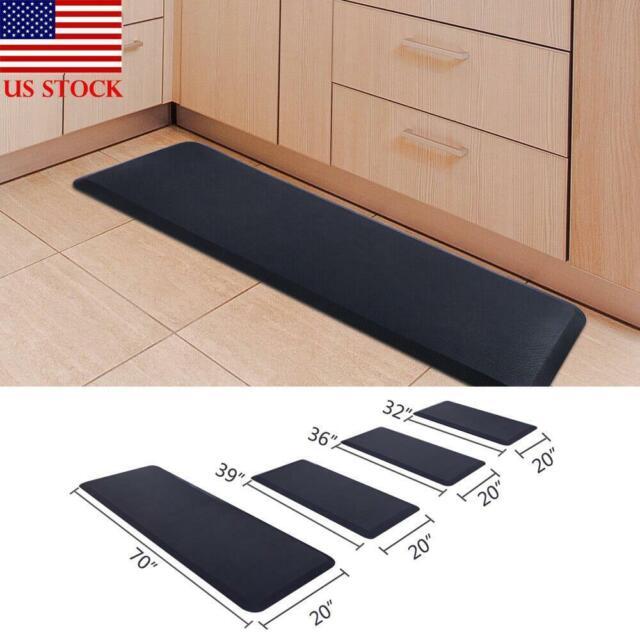 Premium Anti-Fatigue Comfort Mat Office Standing Desk Kitchen w Massage Ball