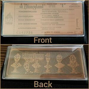 Limited-1-969-Haunted-Mansion-Replica-Bronze-E-Ticket-50th-Disney-Parks