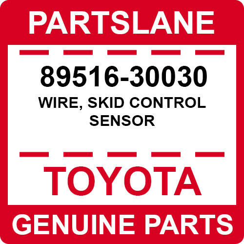 89516-30030 Toyota OEM Genuine WIRE SKID CONTROL SENSOR