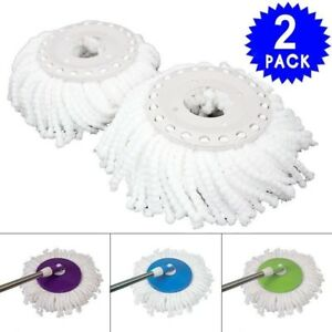 2pcs Replacement 360 Spin Micro Mop Heads Refills Cleaning