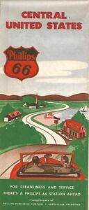 1949-PHILLIPS-66-Road-Map-CENTRAL-UNITED-STATES-Route-66-Oklahoma-Illinois-Texas