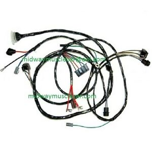 front end headlight headlamp wiring harness 66 chevy ii nova 283 327 rh ebay com