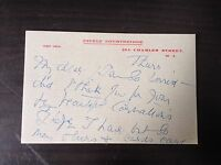 CICELY COURTNEIDGE -  POPULAR BRITISH ACTRESS - HAND WRITTEN SIGNED NOTELET