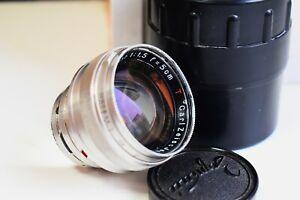 Seltenes Carl Zeiss Jena Sonnar T 1:1 .5 F = 50mm Rangefinder Contax Mount EXC