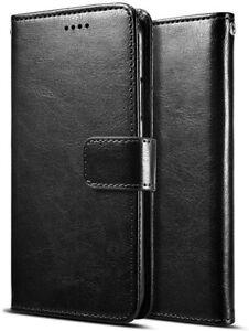 HOUSSE XIAOMI redmi note 9S ETUI COQUE SIMILI CUIR rabat porte carte noir