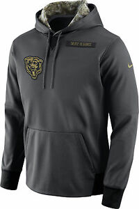 super popular b04d1 a89b0 Details about NWT MEN'S NIKE NFL CHICAGO BEARS SALUTE TO SERVICE HOODIE USA  FLAG SIZE SMALL