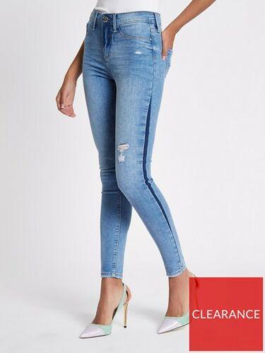 Side Stripe River Island Women/'s Blue Molly Jeans