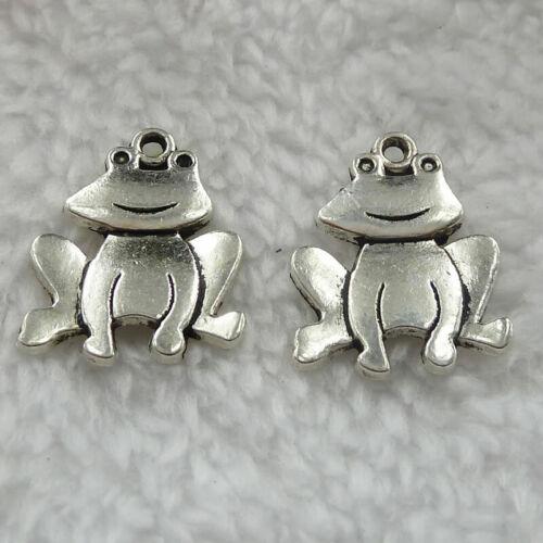 Free Ship 140 pcs tibet silver frog charms 24x19mm B328