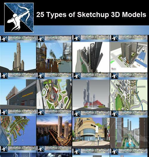 Best 25 Types of Mix Commercial Residential Building SketchUp 3d Models for  sale online | eBay