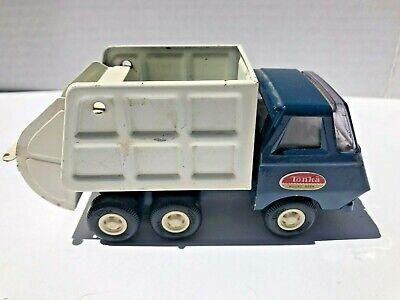 Vintage Tonka Mini Garbage Sanitation Truck Blue And White