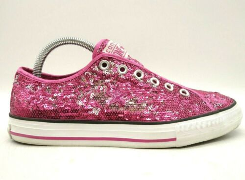 Converse One Star Hot Pink Sequin Cap Toe Slip On