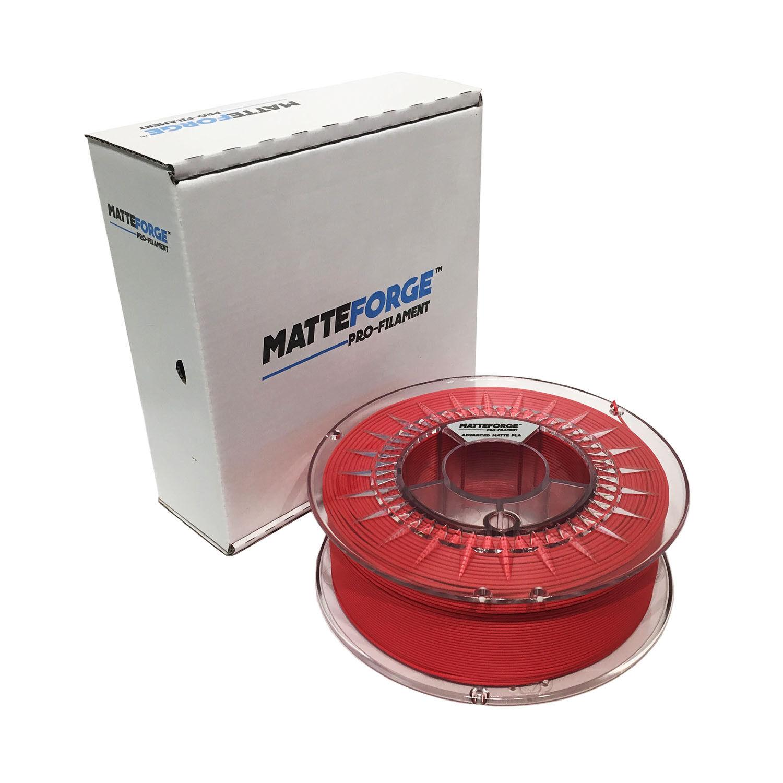 MATTEFORGE : Advanced Matte PLA 3D Printer Filament - 2.85mm RED (1KG)