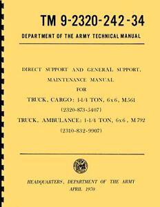 TM9-2320-242-34-Direct-amp-Gen-Supporto-Maint-Manuale-M561-Gama-Capra-Reprnt