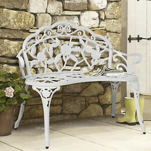 Image Is Loading Victorian Antique Vintage Style Metal Garden Bench Outdoor