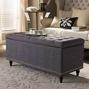 Incroyable Image Is Loading Kaylee Classic Dark Grey Fabric Upholstered Button Tufting