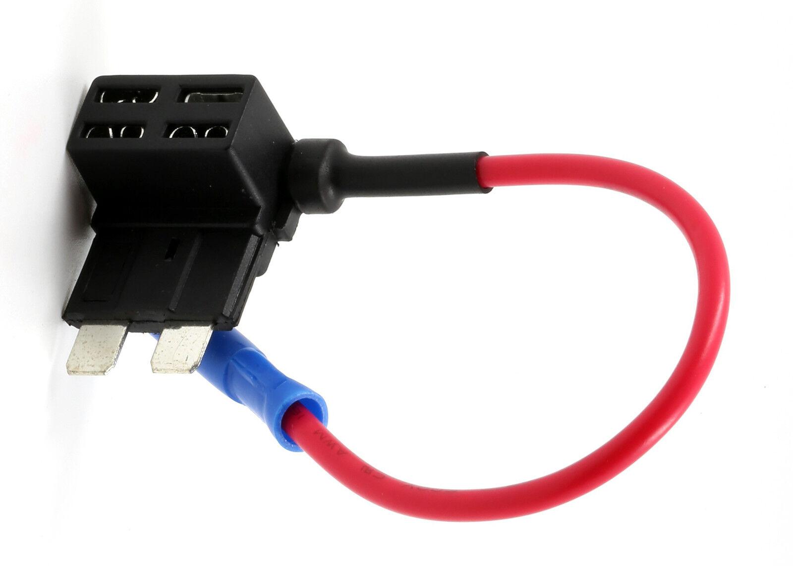 Fuse Tap Regular Ato Atc Apr W 5a Add A Circuit Dash Cam Radar Diy Atm Addafuse Addacircuit 4 Fuses For Mini Blade Style Car Ebay