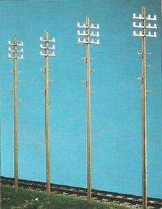 Telegraph-Poles-6-per-Pack-O-gauge-accessories-PECO-LK-747-F1