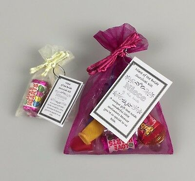 Aunt of the Bride Survival Kit unusual Wedding Favour Thank You keepsake Gift