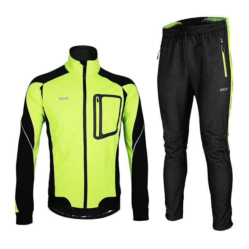 uomini Winter ciclismo Jacket Set Windproof Thermal bicicletta Pants bicicletta Suit capi di abgreeliauominito