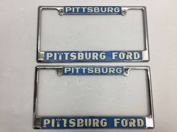 VINTAGE PAIR PITTSBURG FORD PITTSBURGH CALIFORNIA CAR DEALER License ...