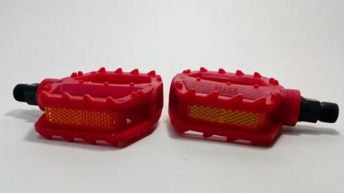 """1//2/"""" Durable Nylon Plastic Pedals 3/""""x3/"""" Kids Bmx Pedal for one piece crankset RD"""