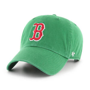 Boston-Red-Sox-MLB-039-47-Green-St-Patty-039-s-Clean-up-Slouch-Hat-Cap-Mens-Adjustable