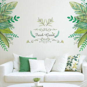 Removable-Green-leaves-Sticker-Wall-Decal-Vinyl-Mural-Art-DIY-Home-Decor